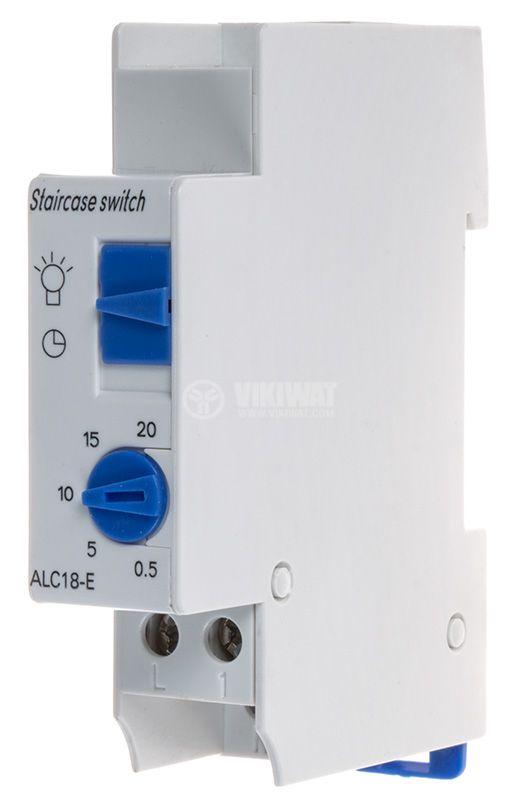 Стълбищен автомат, ALC18E, 220 VAC, 6 A, комутирана мощност 1100 W, 0.5-20 min - 1