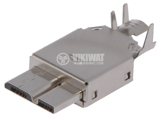 Connector USB B micro, 10pin-shielded, USB 3.0 - 1
