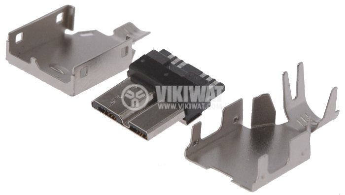 Connector USB B micro, 10pin-shielded, USB 3.0 - 2