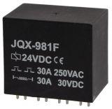 Реле електромагнитно JQX-981F, бобина 24VDC, 250VAC/30A, DPST 2NO