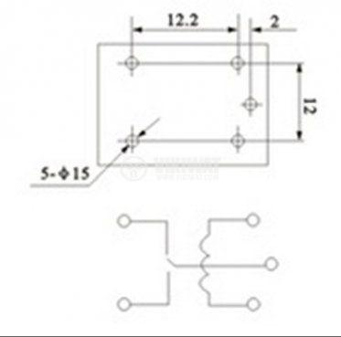Електромагнитно реле, JQC-3F(T73) , 9VDC 250VAC/10A NO+NC - 2