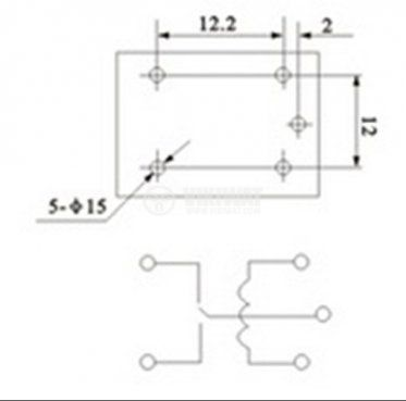 Electromechanical Relay, JQC-3F(T73) , 9VDC 250VAC/10A NO + NC - 2