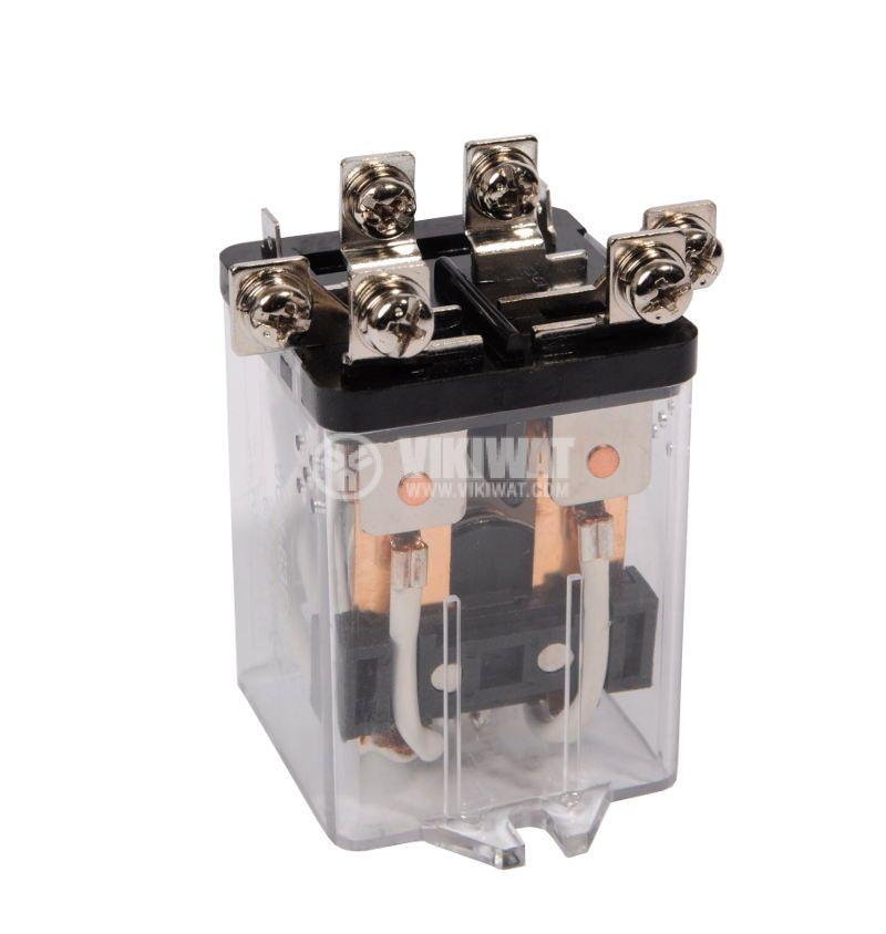 Реле електромагнитно, JQX-63F , 24VDC 250VAC/63A DPDT - 2NO+2NC - 1