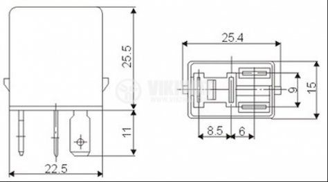 Електромагнитно автомобилно реле бобина 24VDC 24VDC/20A SPST - NO AS404     - 2