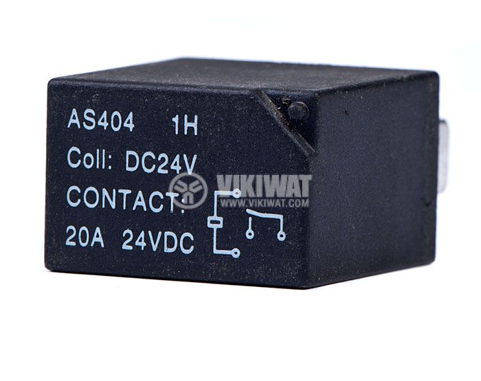 Електромагнитно автомобилно реле бобина 24VDC 24VDC/20A SPST - NO AS404     - 1