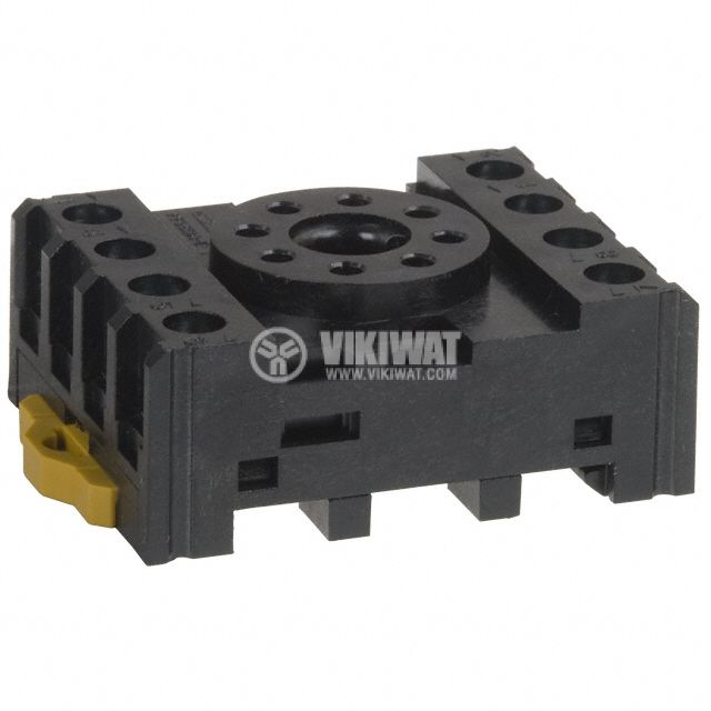 Relay Socket, PF083A-E, 300VAC, 10A, 8pins, DIN Rail - 1