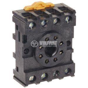 Relay Socket, PF083A-E, 300VAC, 10A, 8pins, DIN Rail - 2