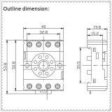 Цокъл за реле, PF083A-E, 300VAC, 10А, 8pins, за DIN шина - 3