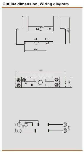 Цокъл реле RT625 300VAC 10А 8pin - 2