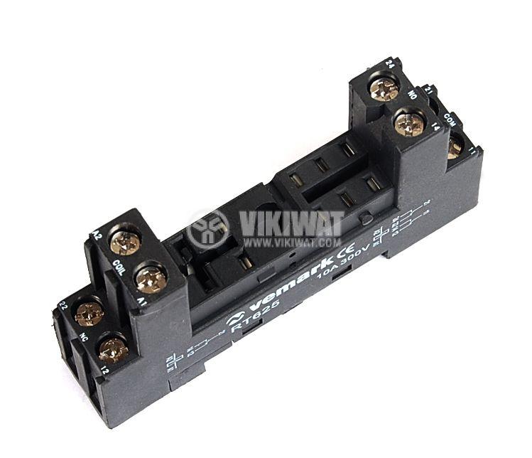 Цокъл реле RT625 300VAC 10А 8pin - 1