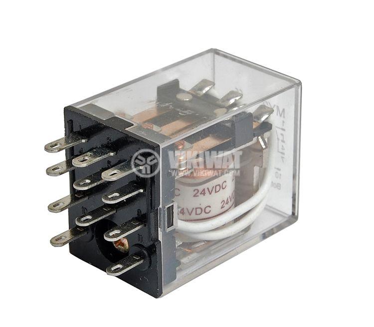 Електромагнитно реле бобина 24VDC 250VAC/5A 3PDT 3NO+3NC  MY3  - 1