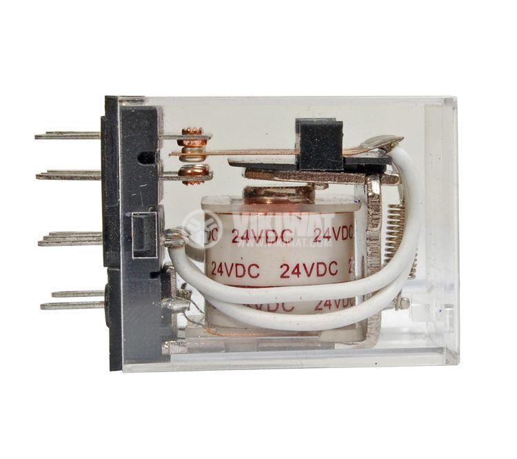 Електромагнитно реле бобина 24VDC 250VAC/5A 3PDT 3NO+3NC  MY3  - 2