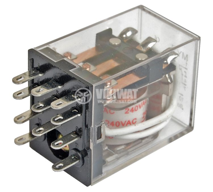 Електромагнитно реле бобина 240VAC 250VAC/5A 3PDT 3NO+3NC  MY3  - 1