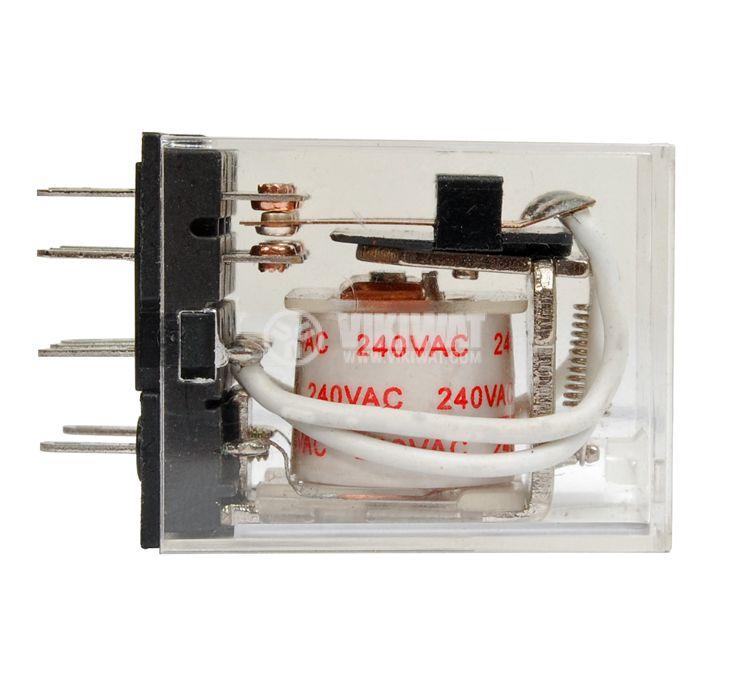 Електромагнитно реле бобина 240VAC 250VAC/5A 3PDT 3NO+3NC  MY3  - 2