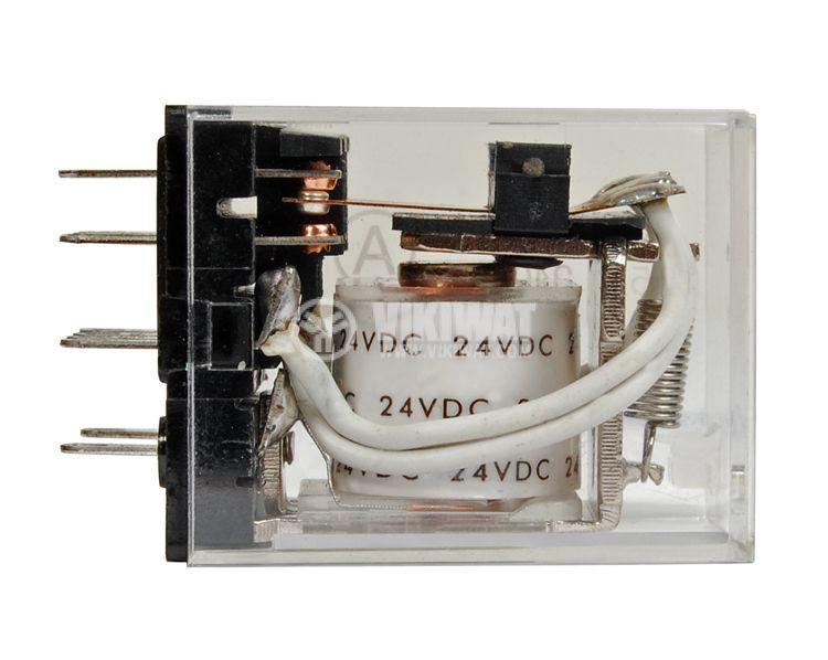 Електромагнитно реле универсално бобина 24VDC 250VAC/5A 4PDT - 4NO+4NC  MY4 - 2