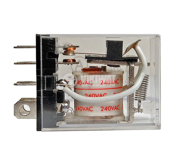 Реле електромагнитно универсално бобина 240VAC 250VAC/10A SPDT NO+NC LY1 - 2