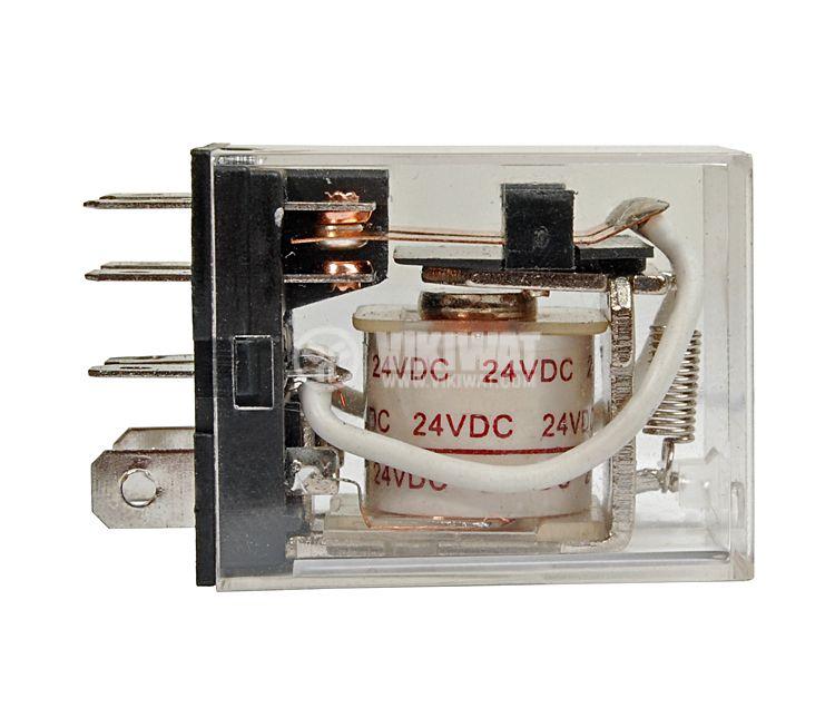 Електромагнитно реле универсално бобина 24VDC 250VAC/10A 2PDT - 2NO+2NC LY2 - 2