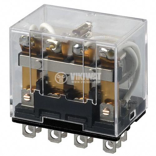 Електромагнитно реле универсално бобина 240VAC 250VAC/10A 4PDT - 4NO+4NC LY4 - 1