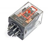 Electromagnetic Relay universal, MK2P, coil 12VDC 250VAC/10A, DPDT 2NO + 2NC
