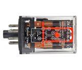 Реле електромагнитно, MK2P, 12VDC 250VAC/10A DPDT 2NO+2NC - 2