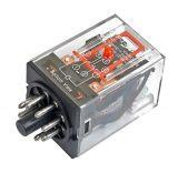 Реле електромагнитно MK2P, бобина 24VDC, 250VAC/10A, DPDT 2NO+2NC