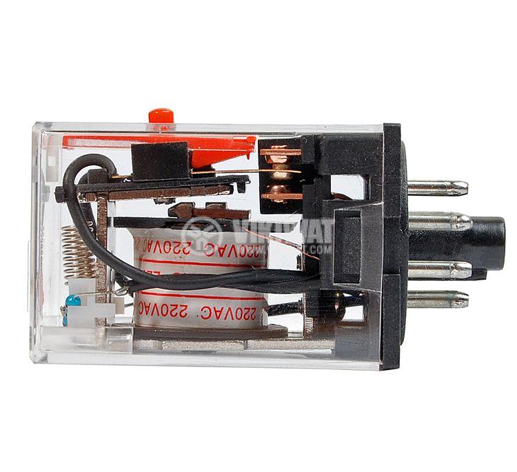Реле MK2P бобина 220VAC 250V 10A DPDT 2NO+2NC - 2