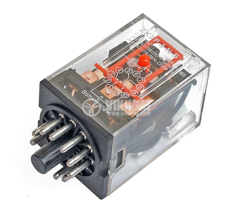 Реле електромагнитно MK3P3 с бобина 12V - 1