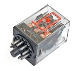 Реле електромагнитно MK3P3, бобина 12VDC, 250VAC/10A, 3PDT 3NO+3NC