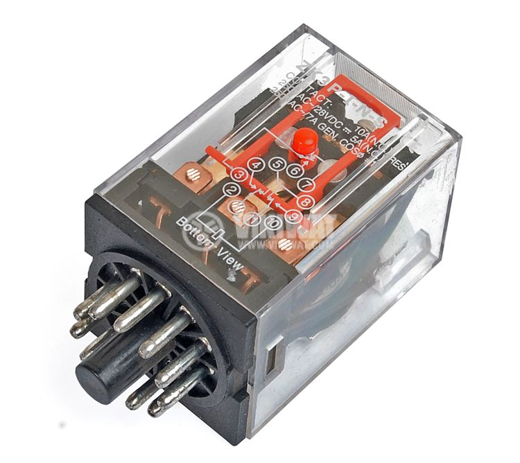 Electromechanical Relay universal, MK3P3, 24VDC 250VAC/10A 3PDT 3NO + 3NC - 1
