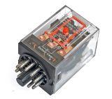 Реле електромагнитно, MK3P3, 24VDC 250VAC/10A 3PDT 3NO+3NC - 1