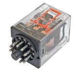 Реле електромагнитно универсално MK3P3 бобина 220VAC 250VAC/10A 3PDT 3NO+3NC - 1