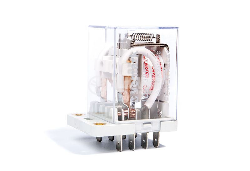 Реле електромагнитно силово бобина 220VAC 250VAC/40A DPDT 2NO+2NC  JQX-38F - 3