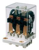 Реле електромагнитно силово бобина 24VDC 250VAC/40A 3PDT 3NO+3NC  JQX-38F - 1