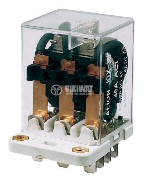 Реле електромагнитно силово бобина 220VAC 250VAC/40A 3PDT 3NO+3NC  JQX-38F - 1