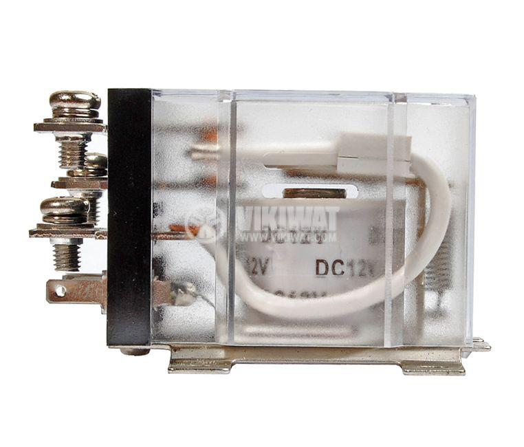 Реле електромагнитно силово бобина 12VDC 250VAC/63A SPDT NO+NC  JQX-60F - 3