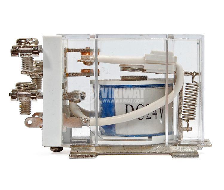 Електромагнитно реле JQX-60F бобина 24V 250VAC 63A, SPDT NO+NC - 3
