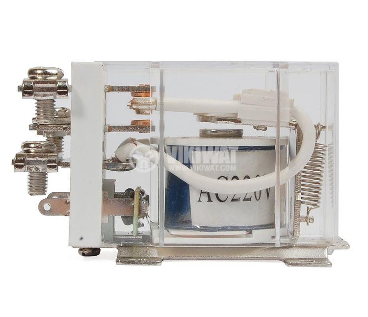 Реле електромагнитно силово бобина 220VАC 250VAC/63A SPDT NO+NC  JQX-60F - 2
