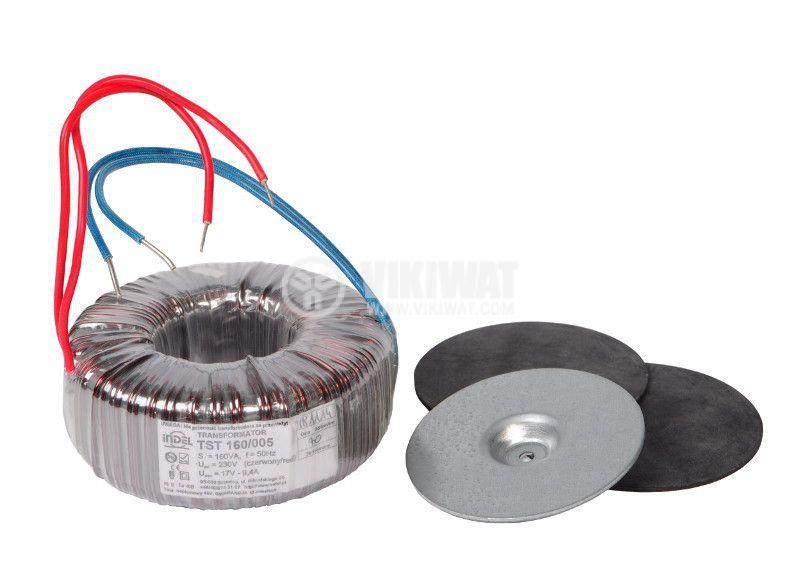 Тороидален трансформатор 230 / 17 VAC, 160 VA