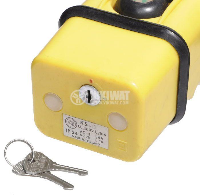 Double Push Button, KS-13, 380VAC, 10A, NO - 2