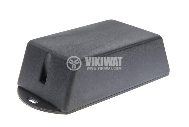 Box, plastic, 120x60x35mm, black - 1