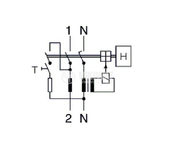 Дефектнотокова защита 2P GDL7-63, 25 A, 15 mA - 5