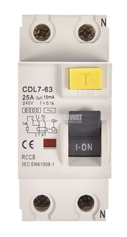 Дефектнотокова защита 2P GDL7-63, 25 A, 15 mA - 3