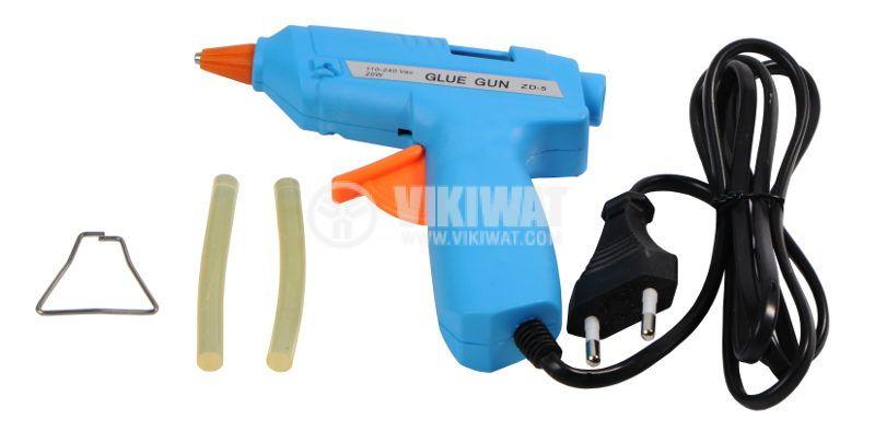 Пистолет ZD-5A 20W за топъл силикон, 110~240VAC