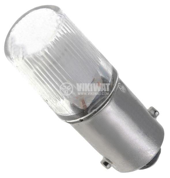 Лампа 110 V, 0.2 W, 2 mA, BA9s, неонова, зелена