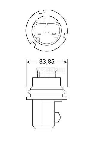 Автомобилна халогенна лампа HB1 - 2