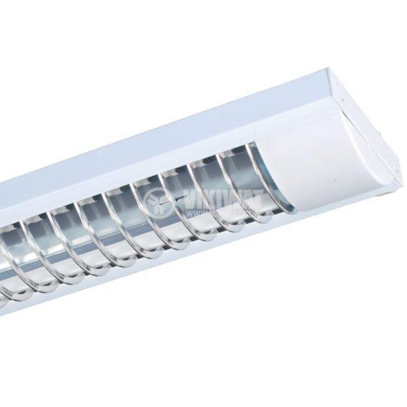 Луминисцентно осветително тяло 2x18W, T8, 220VAC, открито, IP21, 630mm