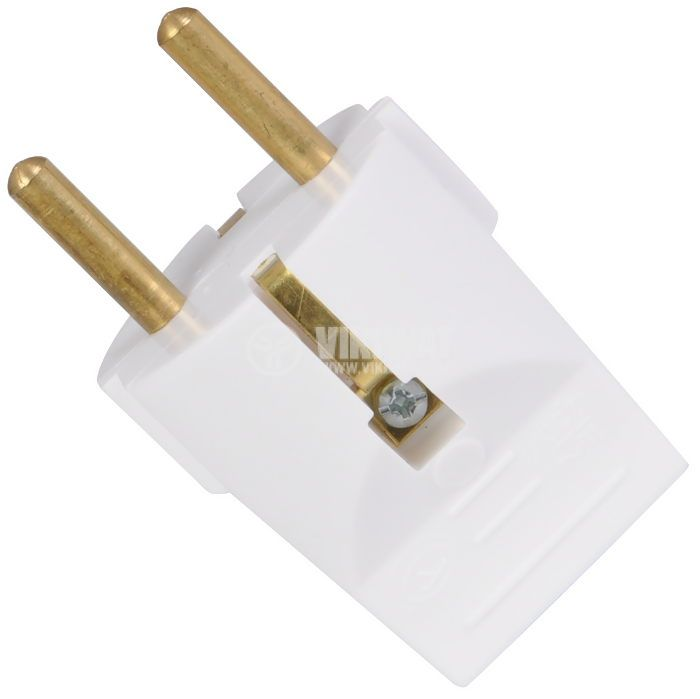 Electrical Schuko Plug, 250VAC, 16А, bakelite, straight