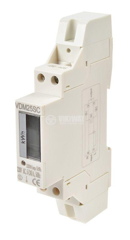 Electrometer electronic ADM25SC (LCD), 5(30 А), direct, 230 VAC