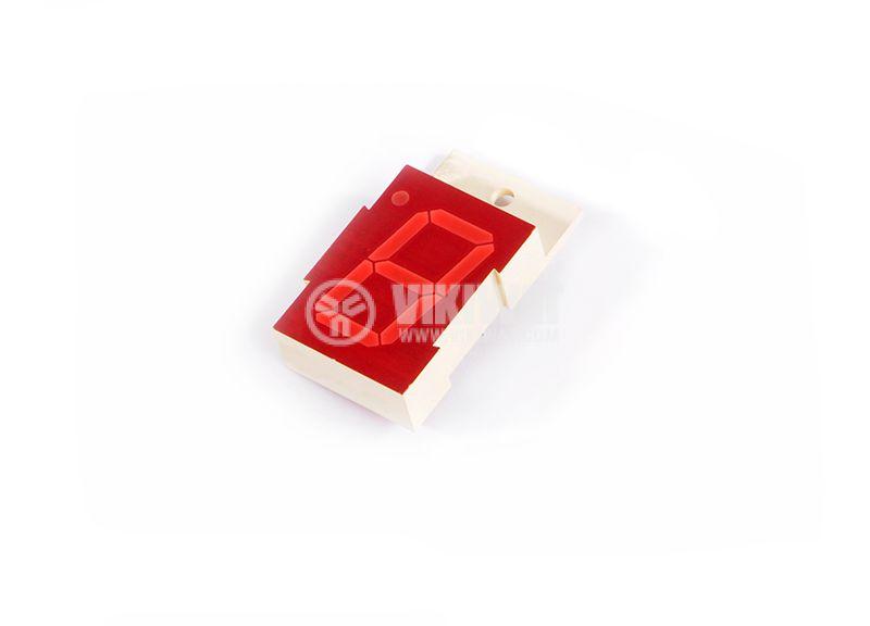 LED индикатор, 7-сегментен, общ катод, 26х15mm - 1