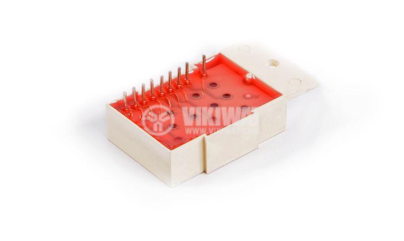 LED индикатор, 7-сегментен, общ катод, 26х15mm - 2